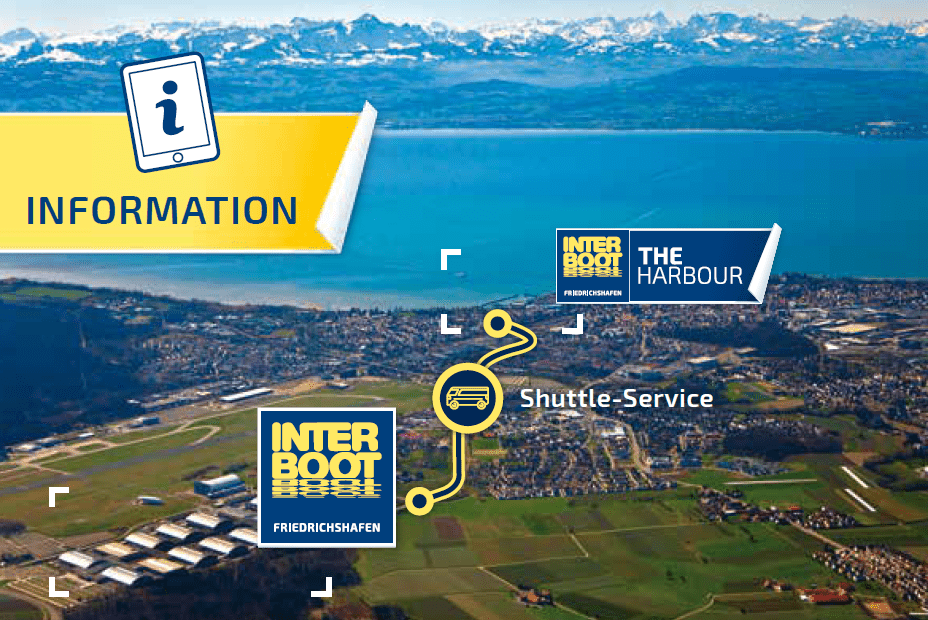 Plan du site du salon interboot navette entre les hangars et le port