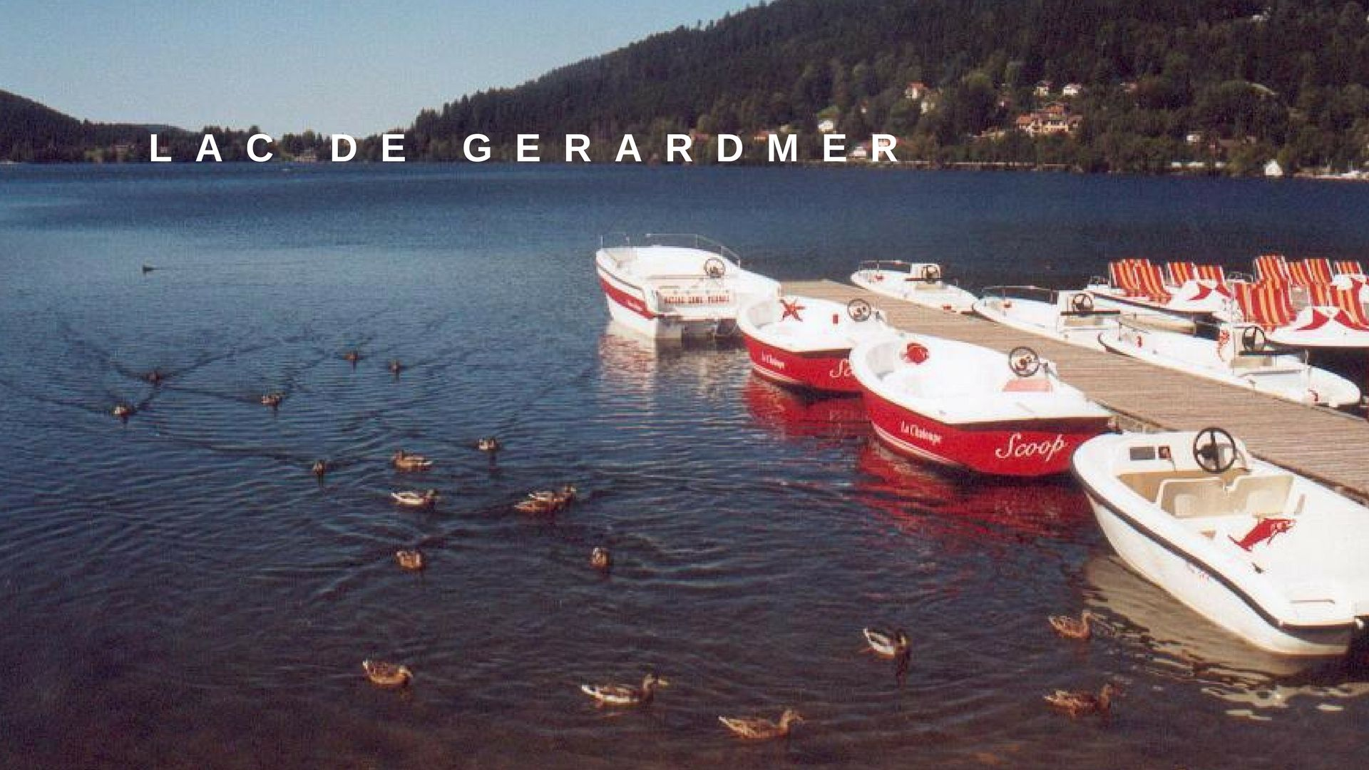 Gérardmer lake  electric boat