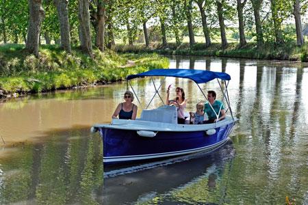 Canal du midi en bateau électrique